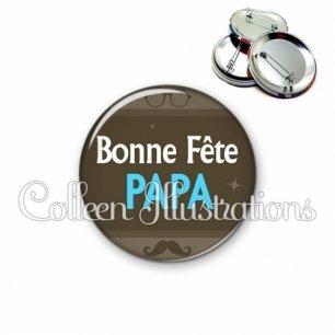 Badge 56mm Bonne fête papa (019MAR01)