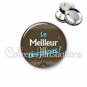 Badge 56mm Le meilleur des papas (019MAR01)