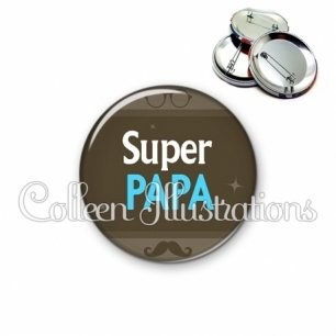 Badge 56mm Super papa (019MAR01)