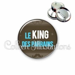 Badge 56mm Le king des parrains (019MAR01)