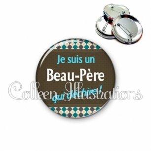 Badge 56mm Beau-papa qui déchire (019MUL01)