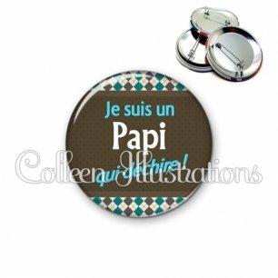 Badge 56mm Papi qui déchire (019MUL01)