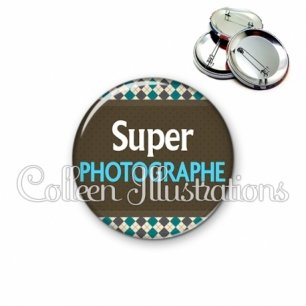 Badge 56mm Super photographe (019MUL01)