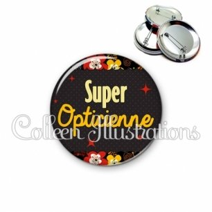 Badge 56mm Super opticienne (019MUL03)