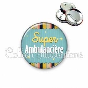 Badge 56mm Super ambulancière (019MUL05)