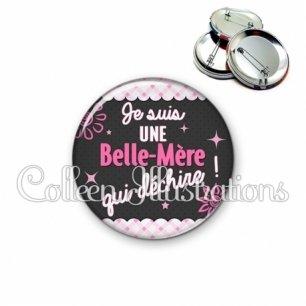 Badge 56mm Belle-mère qui déchire (019ROS01)