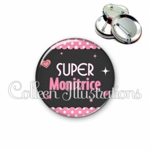 Badge 56mm Super monitrice (019ROS04)