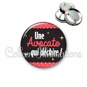 Badge 56mm Avocate qui déchire (019ROS05)