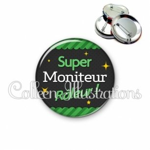Badge 56mm Moniteur super râleur (019VER02)