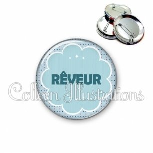 Badge 56mm Rêveur (020BLE02)