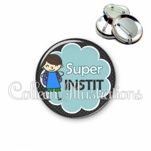 Badge 56mm Super instit (020NOI02)