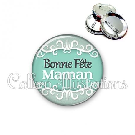 Badge 56mm Bonne fête maman (021VER01)
