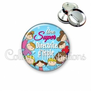 Badge 56mm Super directrice (022BLE01)