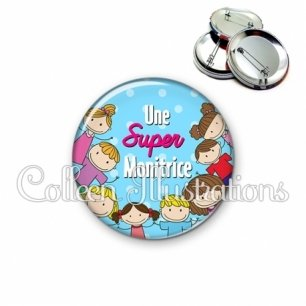 Badge 56mm Super monitrice (022BLE01)