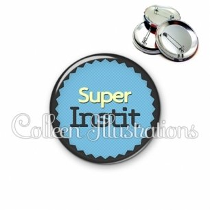 Badge 56mm Super instituteur (024BLE01)