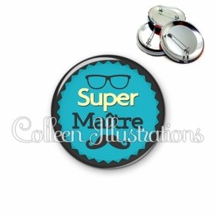 Badge 56mm Super maître (024BLE03)