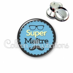 Badge 56mm Super maître (024BLE04)
