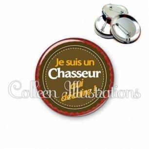 Badge 56mm Chasseur qui déchire (024MAR01)
