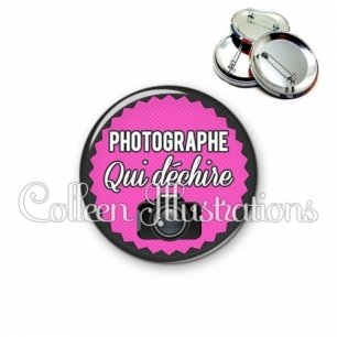 Badge 56mm Photographe qui déchire (024ROS01)