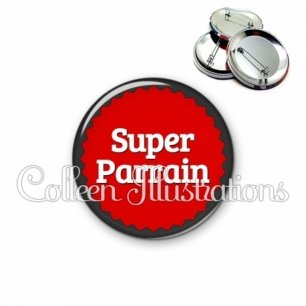 Badge 56mm Super parrain (024ROU01)