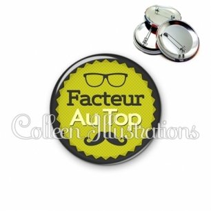 Badge 56mm Facteur au top (024VER01)