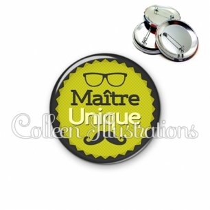 Badge 56mm Maître unique (024VER01)