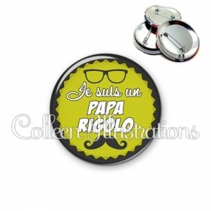 Badge 56mm Papa rigolo (024VER02)