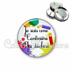Badge 56mm Cantinière qui déchire (026MUL01)