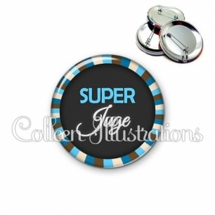 Badge 56mm Super juge (027BLE01)