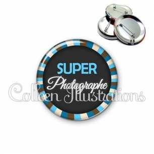 Badge 56mm Super photographe (027BLE01)
