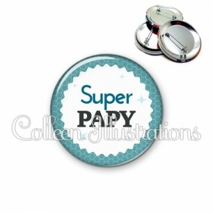 Badge 56mm Super papy (028BLE02)