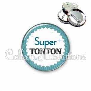 Badge 56mm Super tonton (028BLE02)