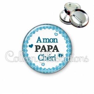 Badge 56mm A mon papa chéri (028BLE03)