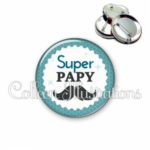 Badge 56mm Super papy (028BLE04)
