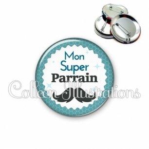 Badge 56mm Mon super parrain (028BLE04)