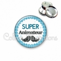 Badge 56mm Super animateur (028BLE06)