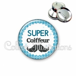 Badge 56mm Super coiffeur (028BLE06)