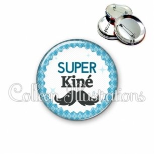 Badge 56mm Super kiné (028BLE06)