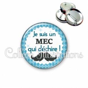 Badge 56mm Mec qui déchire (028BLE06)