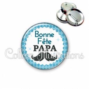 Badge 56mm Bonne fête papa (028BLE06)