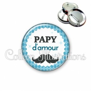 Badge 56mm Papy d'amour (028BLE06)