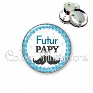 Badge 56mm Futur papy (028BLE06)