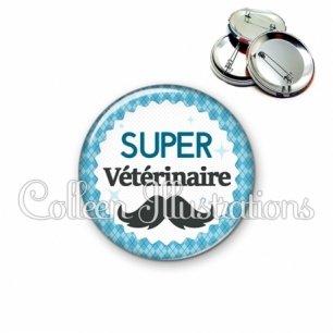 Badge 56mm Super vétérinaire (028BLE06)