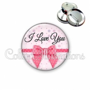 Badge 56mm I love you (029ROS01)
