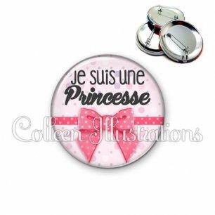 Badge 56mm Je suis une princesse (029ROS01)