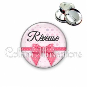 Badge 56mm Rêveuse (029ROS01)