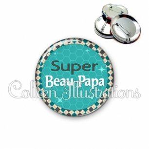 Badge 56mm Super beau-papa (030VER01)