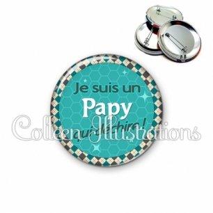 Badge 56mm Papy qui déchire (030VER01)