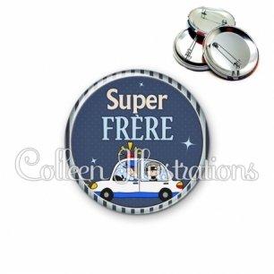 Badge 56mm Super frère (031BLE01)