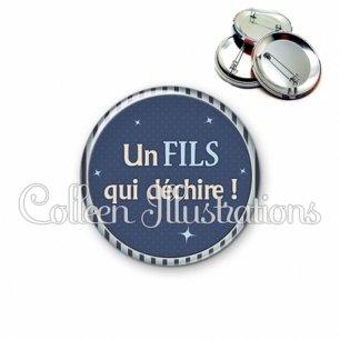 Badge 56mm Fils qui déchire (031BLE07)